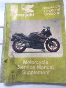 1988 Kawasaki Factory Zx500B1 ZX600C1 Service Manual Supplement
