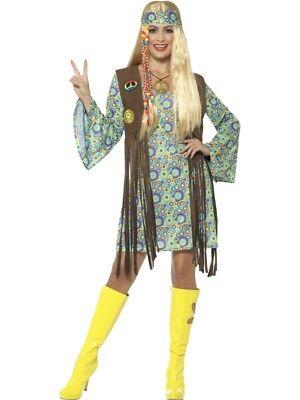 60er Hippie Blumenkind Flower Power Damen Kostüm