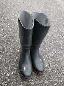 black boots waterproof gum size 9 canada