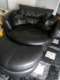 Cuddle swivel chair.