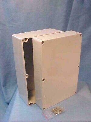 New Bud Industries Gray Plastic Junction Box Pn-1341 Enclosure 6 X 9 38 X 4