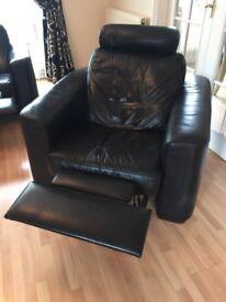 Black leather 3pc suite