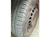 175/65R14 4 stud 4 wheels and tyres