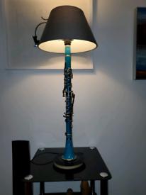 Upcycled Handmade Clarinet Lamp