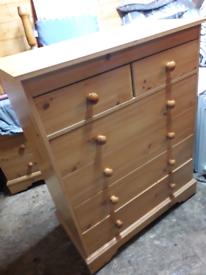 Set of pine efect bedroom draws £20