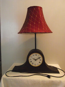 """Timeless"" Mantel Clock Reading Bedside Lamp"