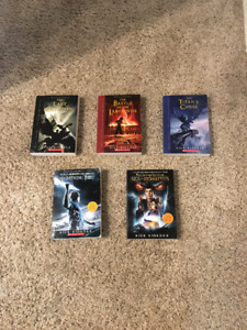 Percy Jackson book set, books one to five