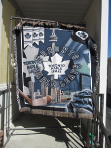 Toronto Maple Leaf throw blanket tapestry for the TML fan!