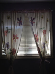Floral Butterfly Girl's Curtain Panels - Set of 2