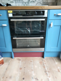 Electrolux double oven with fan grill