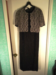 Vintage Laurence Kazar Beaded Maxi Evening Dress (New)!