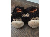 Boys next monkey slippers size 12