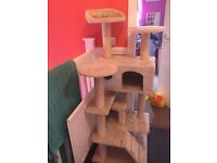 Large cat scratching post/bed