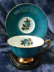 Elizabethan Staffordshire tea cup and saucer