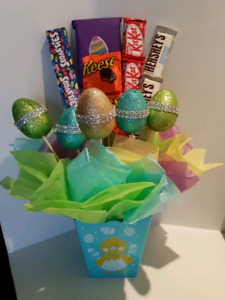 Cute easter candy gift basket