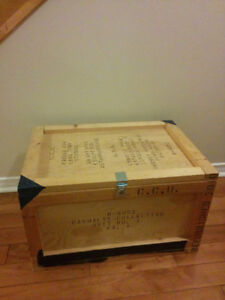 Military wooden box