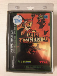 Limited Ed. Papi Commando for Sega Genesis by Water Melon Games