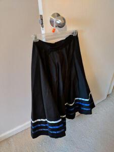 Ballet Character Skirt with Blue Ribbon