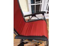 very good quality folding deckchair