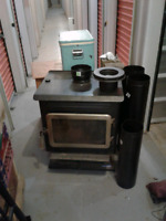 Wood stove and pipes