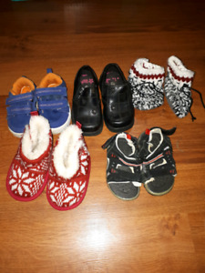 Kids shoes and slippers excellent condition free