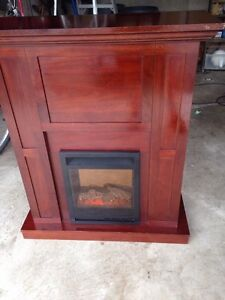 SOLID WOOD FIRE PLACE