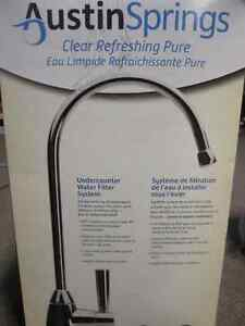 Austin Springs Under Counter Water Filter System with Premium Fa