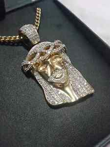 Jesus piece Iced out with Franco Chain.