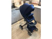 Stokke Xplory v4 Navy Single Seat Stroller - Excellent Condition