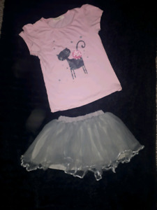 Silver icing outfit fits a size 3/4