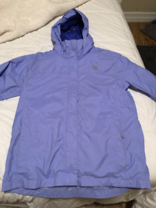 GIRLS NORTHFACE RAIN JACKET