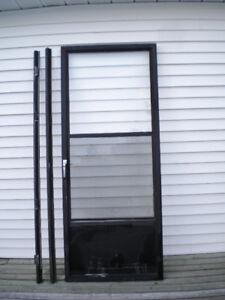 Storm Door-insulated Glass & Screen & Hardware - $30.