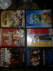 Various DVD movies and VHS Walt Disney etc