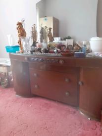 Antique dresser original mirror and glass top