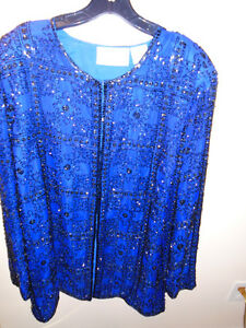 Pure silk fully beaded jacket