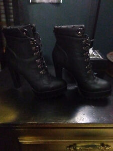 Black leather boots. Brand new