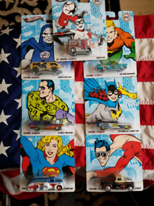 FULL 2011 6 CAR SET OF DC COMICS ORIGINALS