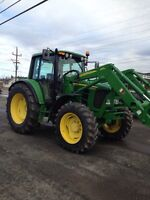 John Deere 6430 24 speed trans. Loader 673