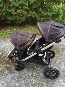 Double stroller (city select) with infant seat adapter Kingston Kingston Area image 1