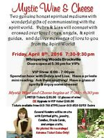 Mystic Wine & Cheese with spiritual mediums. Only 30 tickets!