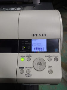 Canon iPF610 wide format plotter for sale.