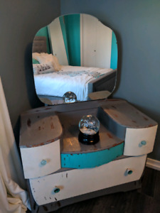 Old dresser and night stand