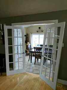 French doors 2of them. Perfect shape. With handles