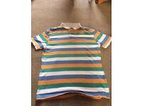 Stripe polo top size M