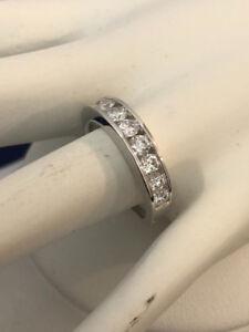18k gold diamond eternity wedding ring band *Appraised @ $3,900
