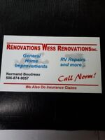 Roofing replacement and repairs.