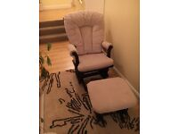 Nursery rocking chair with footstool £90