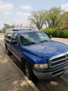 1997 Dodge 1500 Pickup Truck with Longbox and Topper