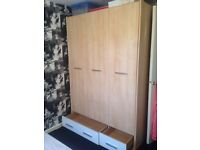 Three door wardrobe