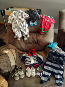Assorted box of boys clothing items - 6 to 12 months